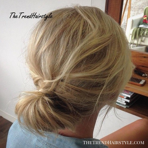 Simple Updo For Tousled Hair