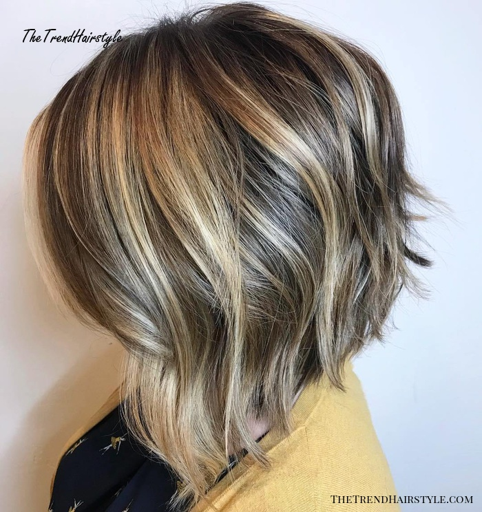 Slanted Bob With Textured Layers