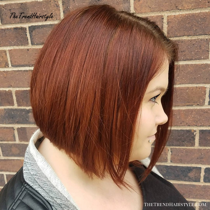 Sleek Angled Copper Bob