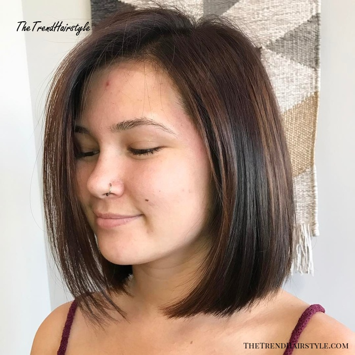 Sleek Brunette A-Line Bob