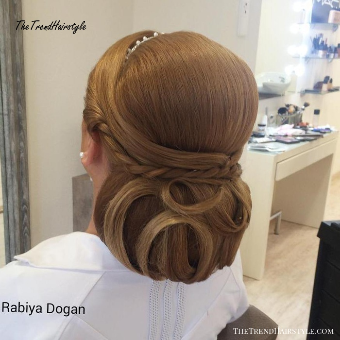 Sleek Formal Chignon With A Bouffant
