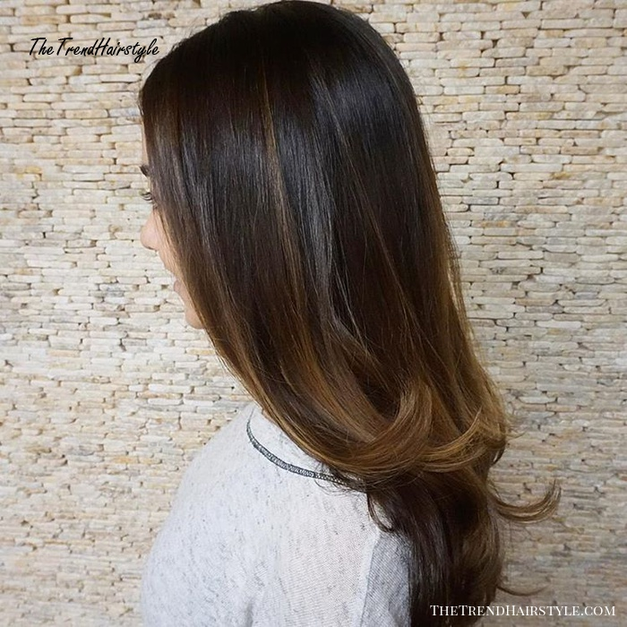 Sleek Hairstyle With Subtle Ombre