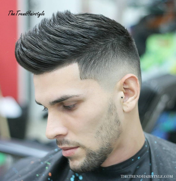 Spiked Top with Faded Sides