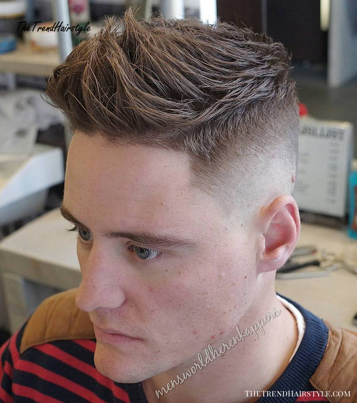 Spiky Fade With Line Up