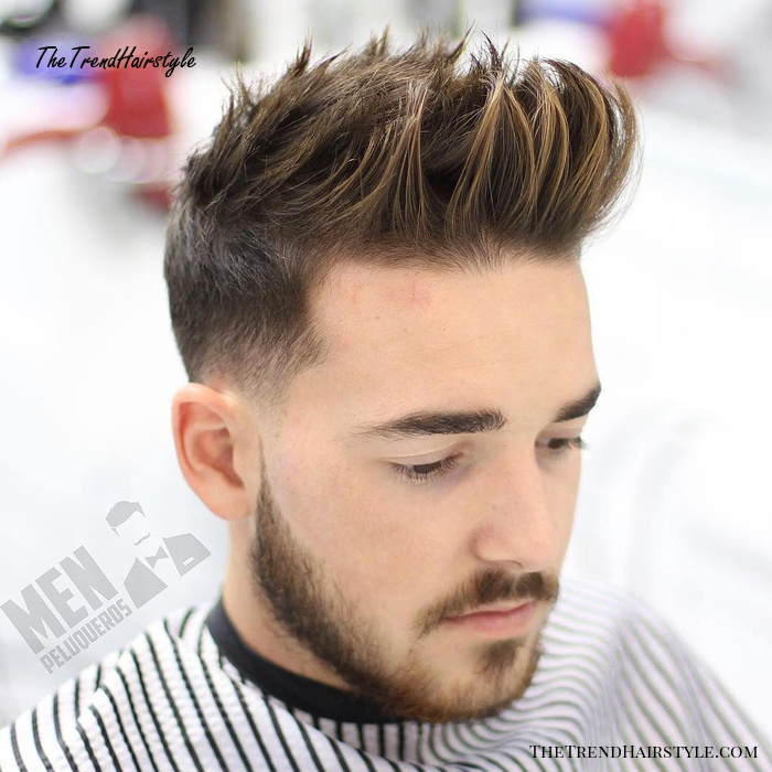Spiky Pompadour Hairstyle