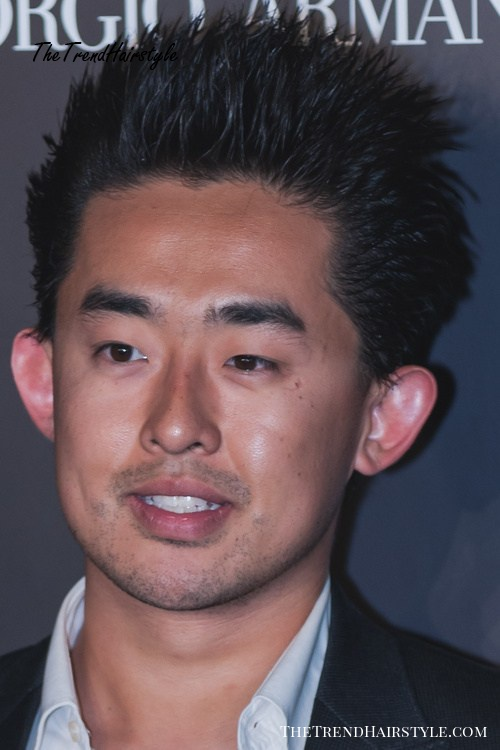 Spiky hairstyle for Asian men