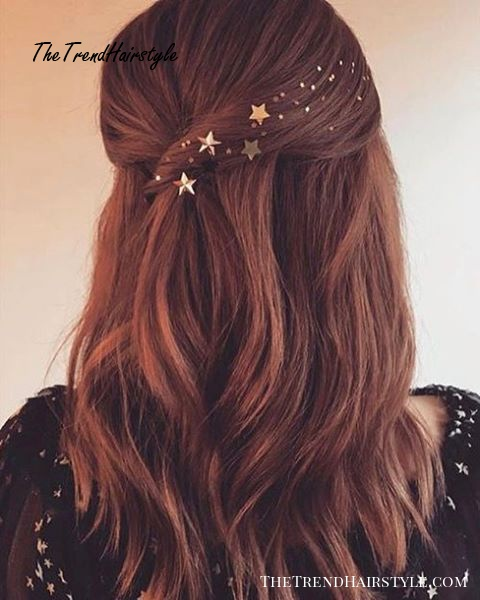 Star Half Up Half Down Style