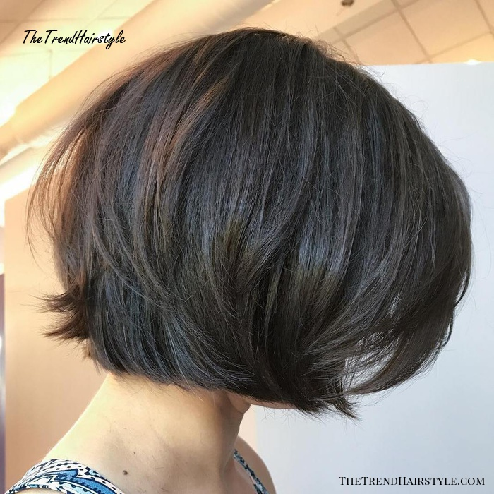 Rounded Brunette Bob with Voluminous Layers - 60 Best Short Bob Haircuts and Hairstyles for ...