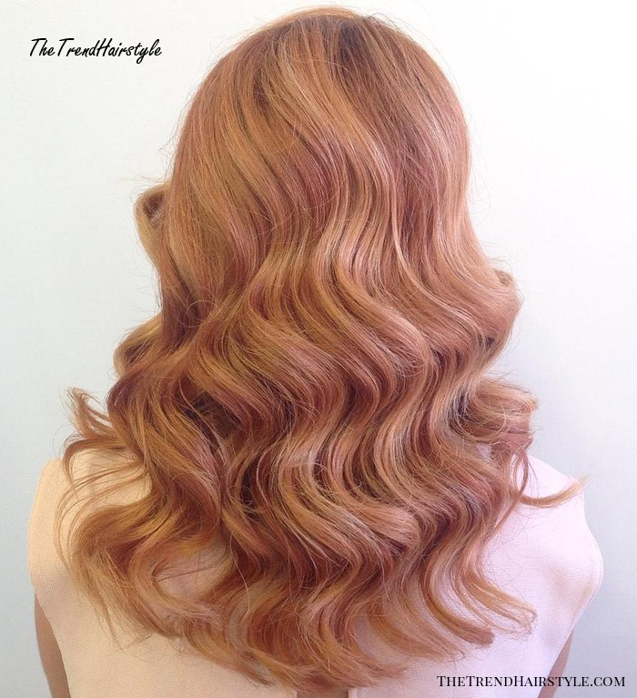 Strawberry Blonde And Rosewood Hair Color