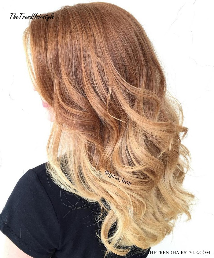 Strawberry Blonde Ombre Hair
