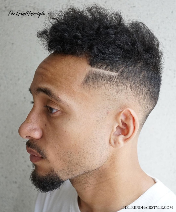 Taper Fade With Curly Natural Top
