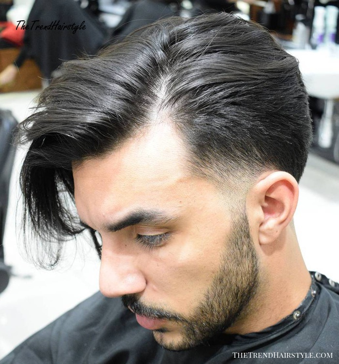 Taper With Long Side Bang
