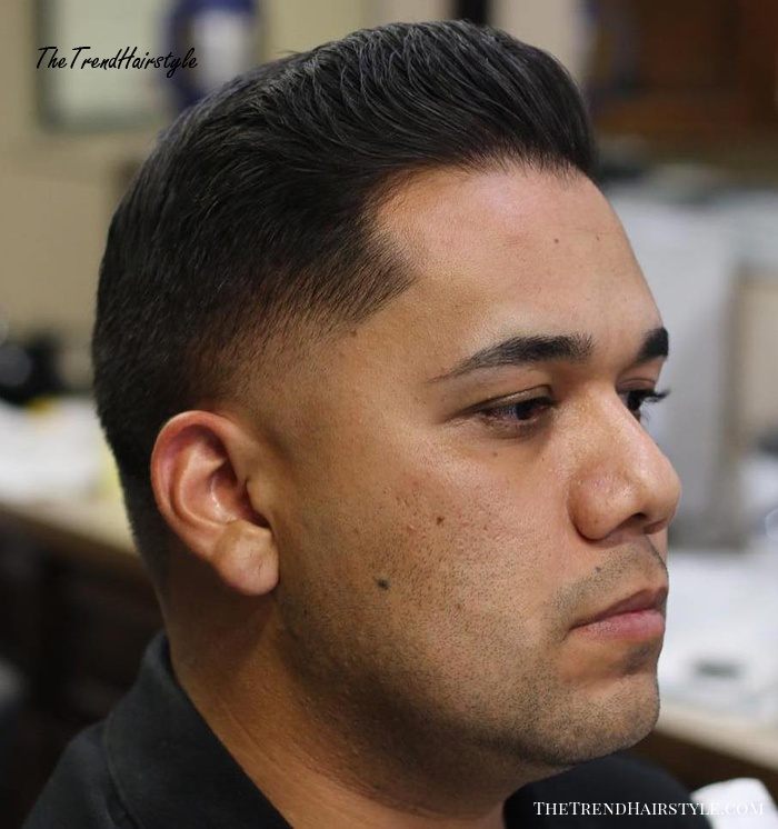 Taper With Temple Fade For Fine Hair