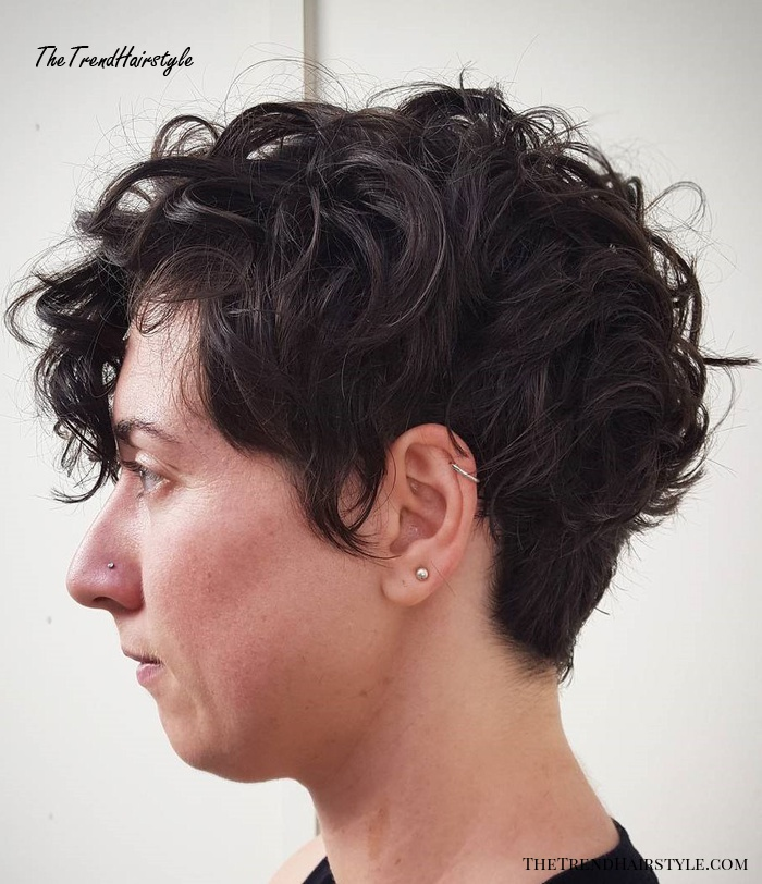 Tapered Cut With Bangs For Curly Hair