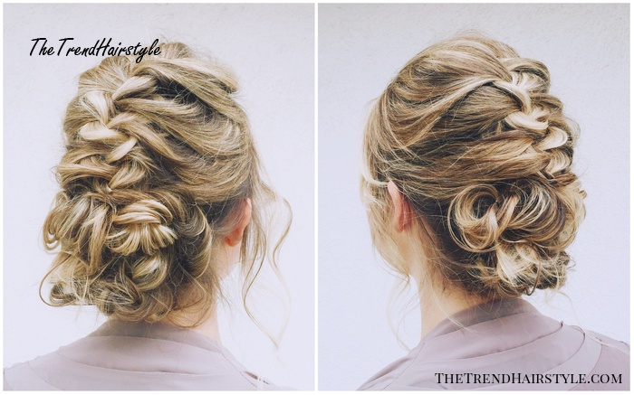 Textured French Braid Updo