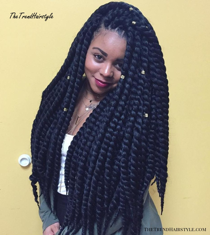 Thick Long Twists Braids
