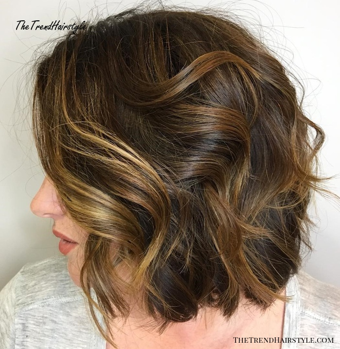 Thick Wavy Messy Bob Hairstyle
