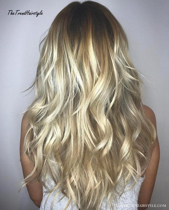 Toasted Coconut Balayage For Long Length Hair