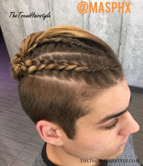 Top Braid And Short Sides Style For Men