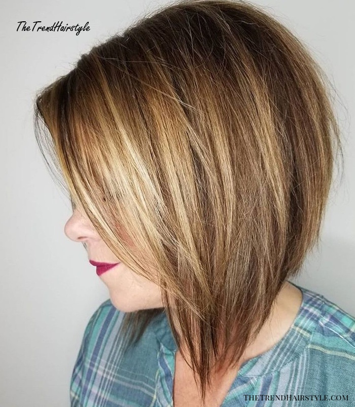 Shaggy Inverted Bob - 50 Trendy Inverted Bob Haircuts - The Trending Hairstyle