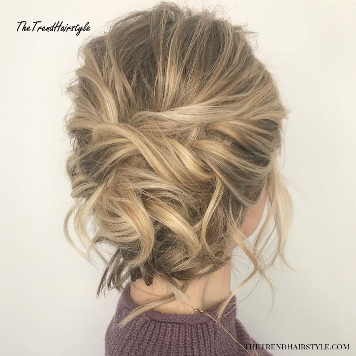 Messy Updo for Bob Length Hair   60 Easy Updo Hairstyles ...