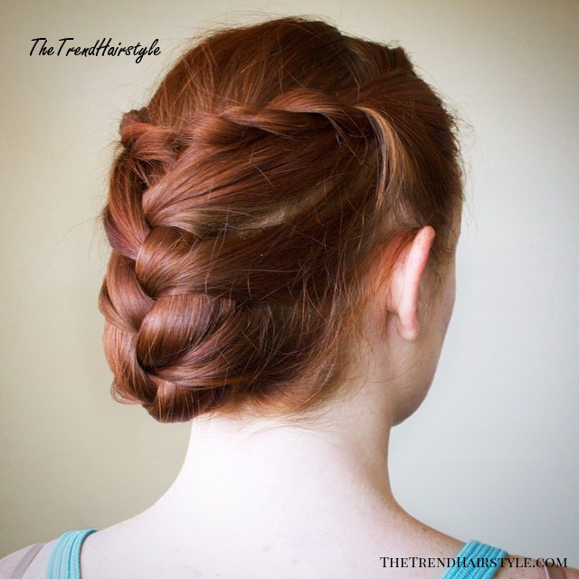 Tucked-In Braided Updo