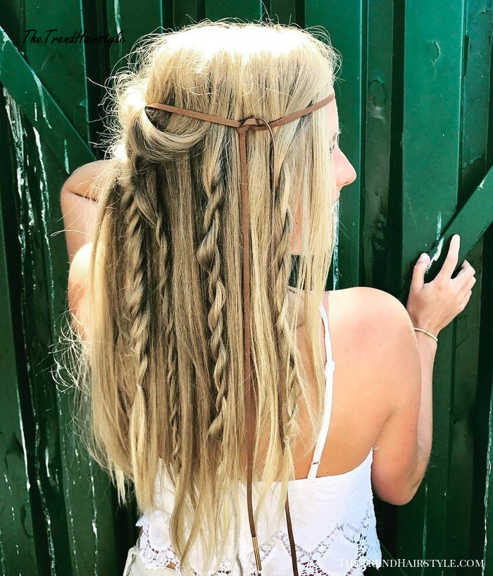 Twisted Bohemian Hairstyle