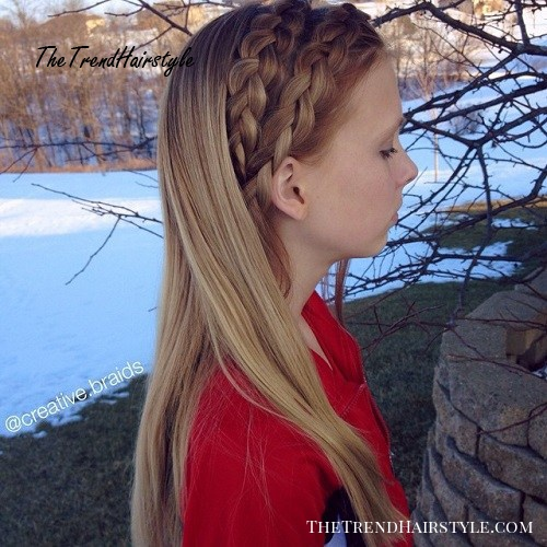 Two Braids Loose Hairstyle For Girls