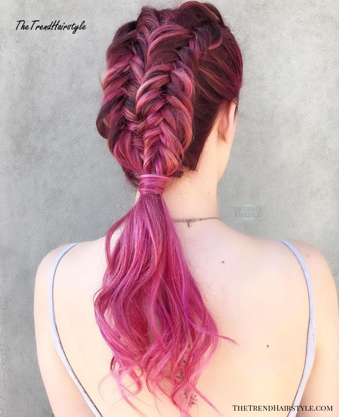 Two Braids With A Low Ponytail