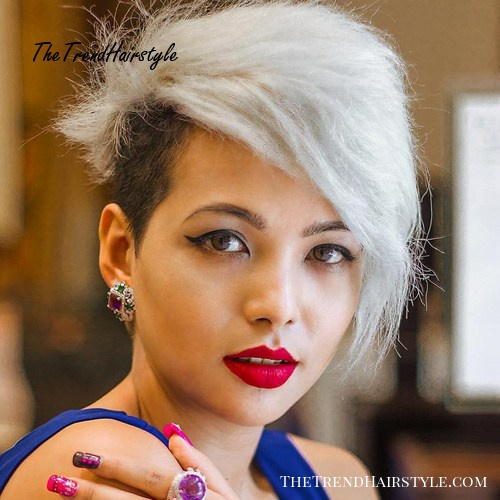 Two Tone Undercut Hairstyle