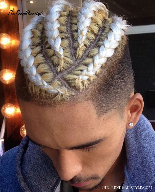 Undercut With Braided Top For Men
