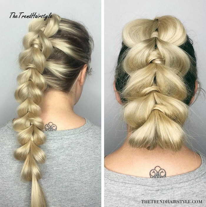 Updo For Pull Through Braid