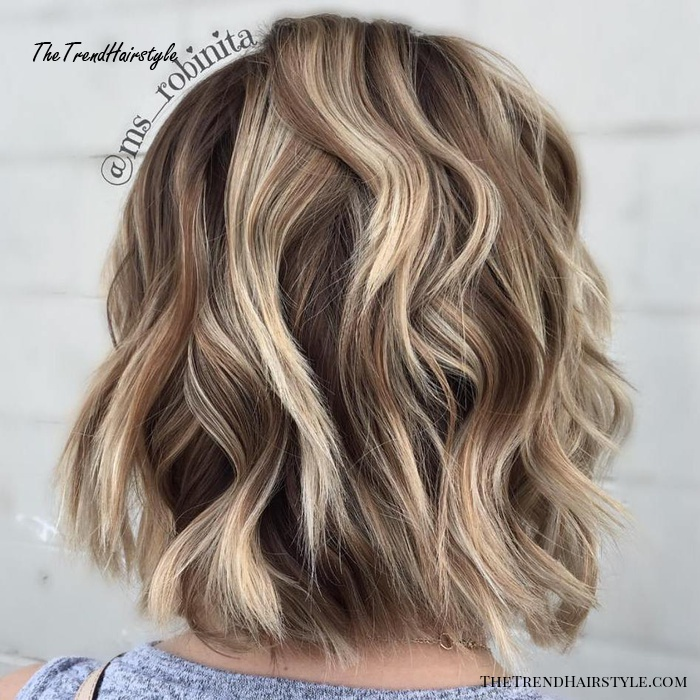 Side Swept Waves For Ash Blonde Hair 50 Light Brown Hair Color Ideas With Highlights And Lowlights The Trending Hairstyle
