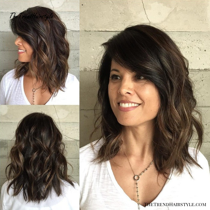 Curly Style With Side Bangs 80 Sensational Medium Length Haircuts For Thick Hair In 2019 The Trending Hairstyle Page 20