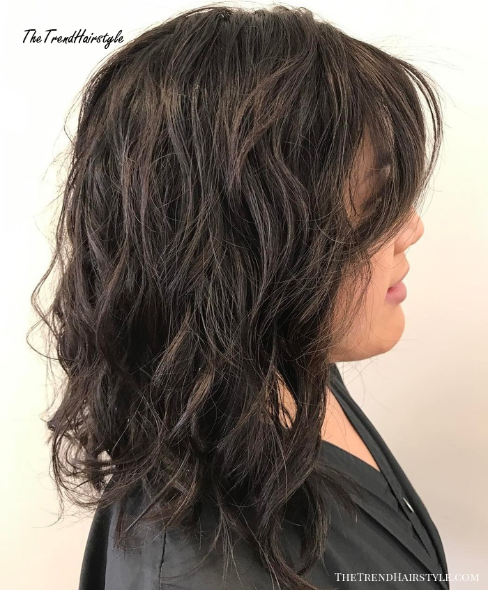 Wavy Messy Lob Hairstyle