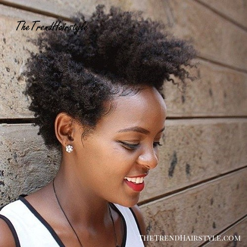 Women'S Long Top Short Sides Natural Hairstyle