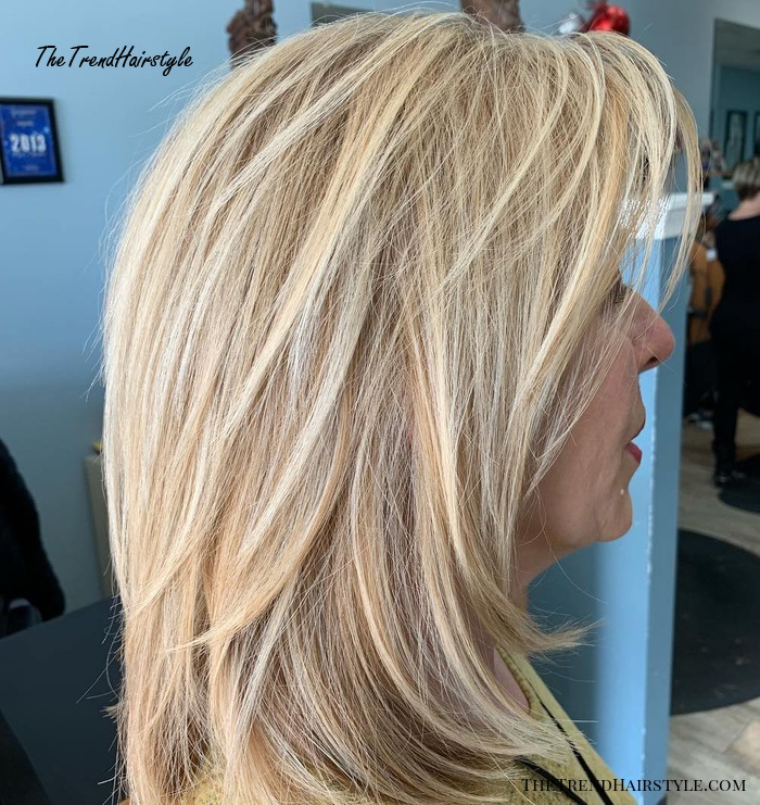 Medium Layered Haircut - 80 Best Hairstyles for Women Over 50 to Look Younger in 2019 - The ...