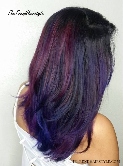 Purple And Violet For Black Hair 40 Versatile Ideas Of Purple Highlights For Blonde Brown And Red Hair The Trending Hairstyle