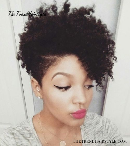 black women's short hairstyle