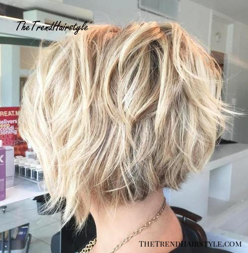 Textured Wavy Mid,Length Cut , 60 Best Bob Hairstyles for