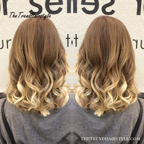 blonde ombre hair and medium U cut