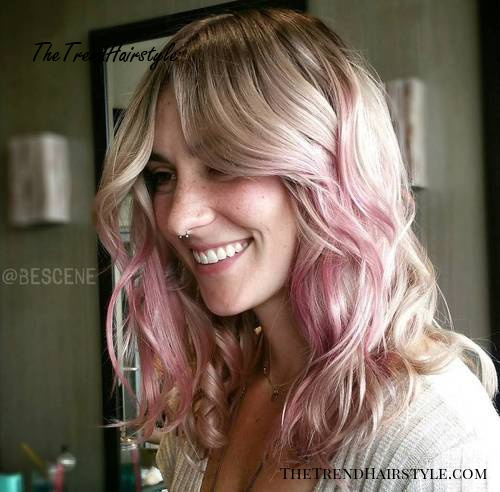 blonde to pastel pink ombre
