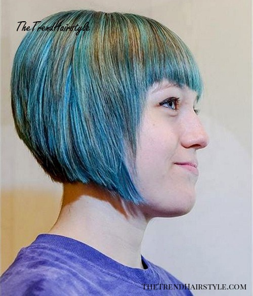 blue layered bob