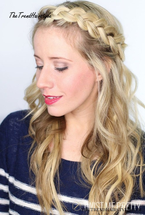 boho hairstyle with braided bangs