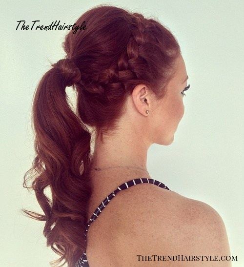 braid and pony for thin hair