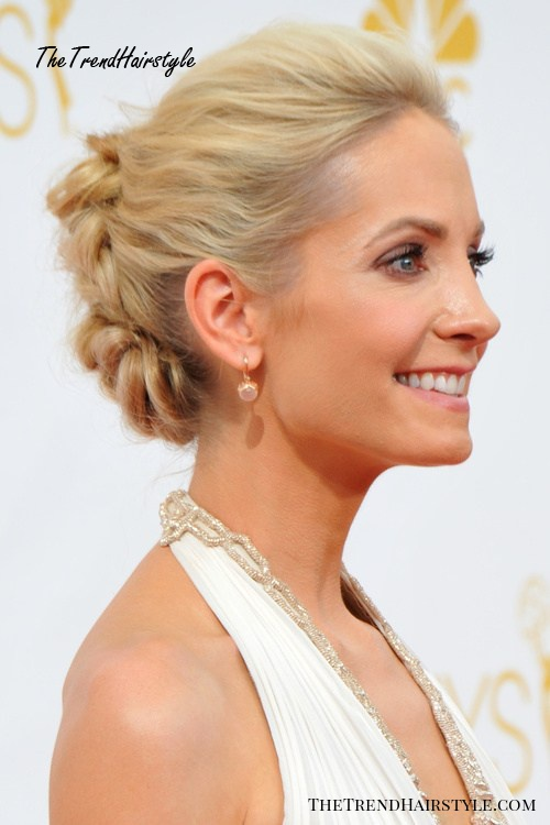 braided bun hairstyle for blondes