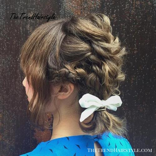 braided hairstyle for shorter hair
