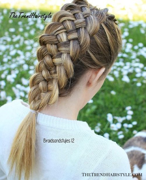 braided mohawk hairstyle