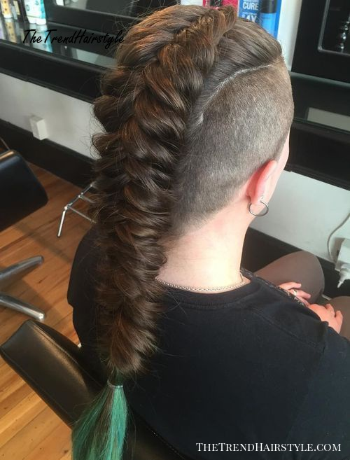braided mohawk with undercuts