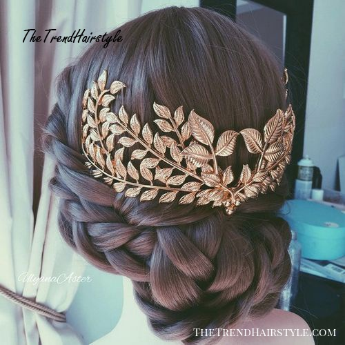 braided updo for bridesmaids
